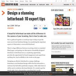 Design a stunning letterhead: 10 expert tips