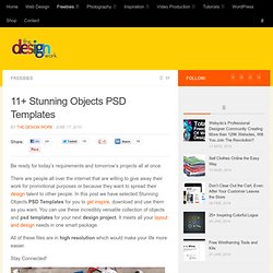 11+ Stunning Objects PSD Templates