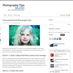 5 Stunning Photography Tips - Portrait StumbleUpon