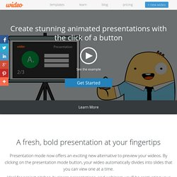 Create stunning animated presentations with the click of a button