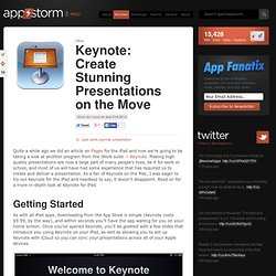 Keynote: Create Stunning Presentations on the Move