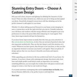 Stunning Entry Doors – Choose A Custom Design – Stewart Brannen Millworks