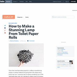 Make A Lamp From Toilet Paper Rolls
