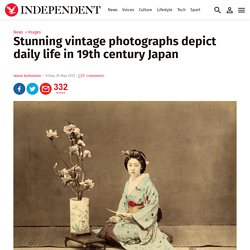 Vintage photographs depict daily life in 19th century Japan