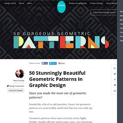 50 Stunningly Beautiful Geometric Patterns In Graphic Design