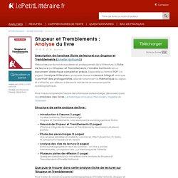 Stupeur et Tremblements (Amélie Nothomb) : Analyse complète