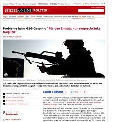 G36-Sturmgewehr gefährdet Leben von Bundeswehr-Soldaten