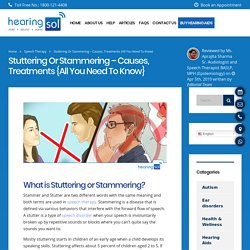 Treatment Of Stuttering or Stammering