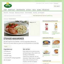 Stuvade makaroner - Recept - Arla