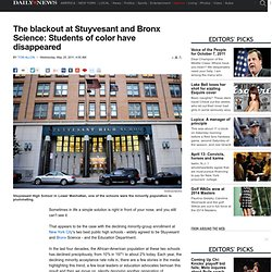 The blackout at Stuyvesant and Bronx Science: Students of color have disappeared