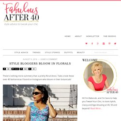 Style Bloggers Bloom in Summer Florals