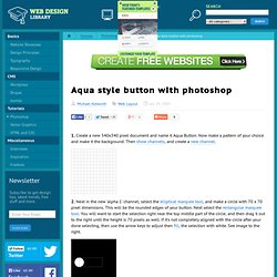 Aqua Style Button with Photoshop