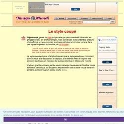 Style coupé (littérature).
