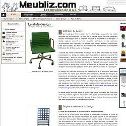 Le style Design - (XXe-XXIe siècle)