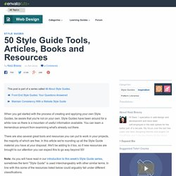 50 Style Guide Tools, Articles, Books and Resources