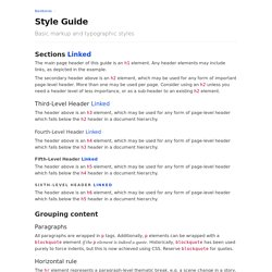 Style Guide - Barebones