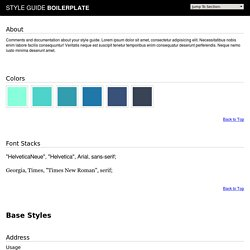 Style Guide Boilerplate