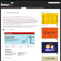Style guide collection - Blog - Bene