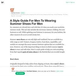 Buy Summer shoes for Men - Jabong