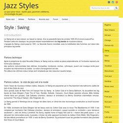 Style Jazz Swing