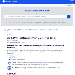 Add, Style, or Remove Text Links in an Email