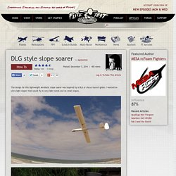 DLG style slope soarer