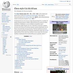 Chen-style t'ai chi ch'uan