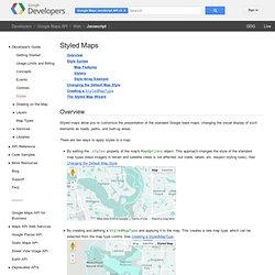 Maps Javascript API V3 Styling - Google Maps JavaScript API V3 - Google Code