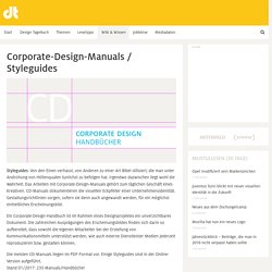 Corporate-Design-Manuals, Styleguides, CD-Handbücher