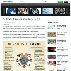 The 7 Styles Of Learning: Which Works For You?