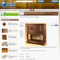 Etude des styles des meubles: chronologie