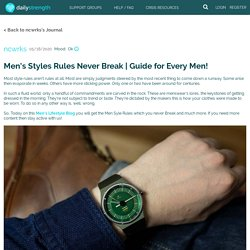 Men's Styles Rules Never Break