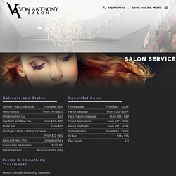 Men's and Women's Hair Styles, Waxing and Facial Services Frisco