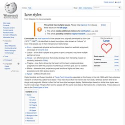 Love styles - Wikipedia, the free encyclopedia