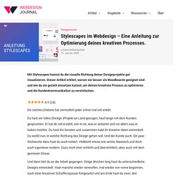 Stylescapes im Webdesign – Eine Anleitung zur Optimierung deines kreativen Prozesses.