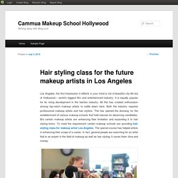 Hair styling class for the future makeup artists in Los Angeles
