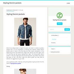 Styling Denim Jackets