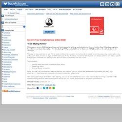CSS: Styling Forms, Free Lynda.com Inc. Video