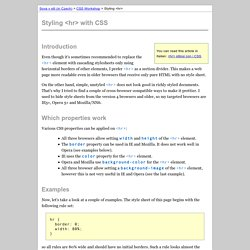 Styling <hr> with CSS