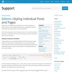Font Size and Color « Support WordPress.com