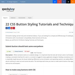 22 CSS Button Styling Tutorials and Techniques