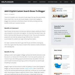 Add 6 Stylish Custom Search Boxes To Blogger - Helplogger