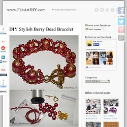 DIY Stylish Berry Bead Bracelet