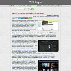 Stylish, la communauté vous aide à restyler tout le web
