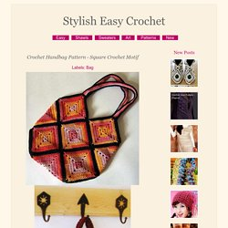 Crochet Handbag Pattern - Square Crochet Motif