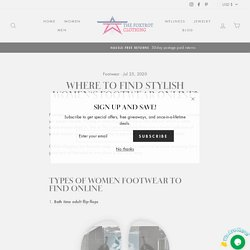 Where to Find Stylish Women's Footwear Online?