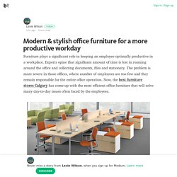 Modern & stylish office furniture for a more productive workday – Medium