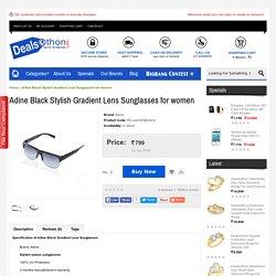 Adine Black Stylish Gradient Lens Sunglasses for women