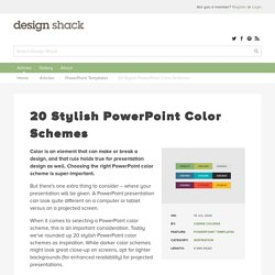 20 Stylish PowerPoint Color Schemes