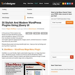35 Stylish And Modern Wordpress Plugins Using jQuery UI